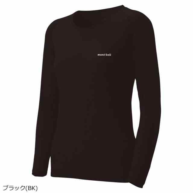 mont-bell(モンベル) スーパーメリノウール M.W. Rネックシャツ Women's ブラック 1107574