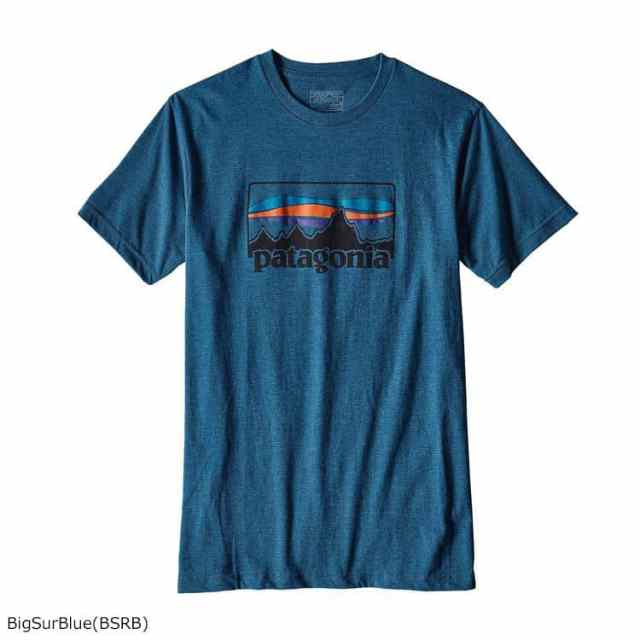 patagonia(パタゴニア) メンズ・'73 ロゴ・コットン/ポリ・Tシャツ BSRB 39061