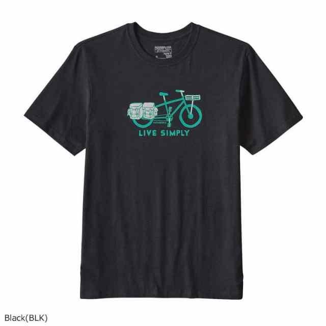 patagonia(パタゴニア) メンズ・リブ・シンプリー・カーゴ・バイク・コットン・Tシャツ BLK 39067
