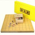 将棋セット 新桂7号折将棋盤と楓漆書駒のセット