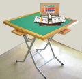麻雀セット 立卓麻雀卓平成(折りたたみ式)と麻雀牌なにわのセット