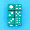 麻雀 サイコロ小 緑 6個セット