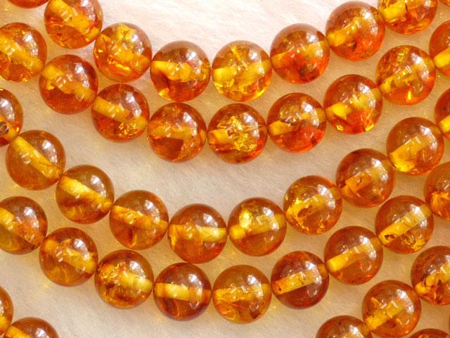 琥珀(アンバー) 8ミリ 【bz-amber-8】【定型外可】