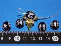 梵字12支全8種彫刻 オニキス12ミリ