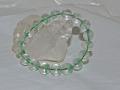 グリーンファントム水晶 11ミリ玉ブレスレット 内径17cm