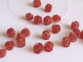 花の彫刻ビーズ カーネリアン 10ミリ 【bz-carving-carnelian-10】【定型外可】