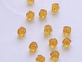 花の彫刻ビーズ シトリン 10ミリ 【bz-carving-flower-citrine10】【定型外可】