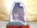 【破格SALE!半額以下!】アメジスト原石台付 5.0kg(台込) サイズ(約)縦25cm横19cm奥行13cm