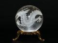 水晶玉30ミリ 彫刻