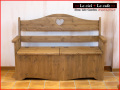カントリー家具ベンチボックス(収納型)