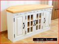フレンチカントリー家具・パイン家具・コーナーテレビボード・コーナー用テレビボード
