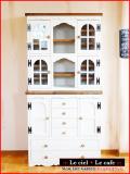 カントリー家具カップボード食器棚