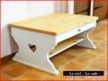 カントリー家具ローテーブル(引き出し付き)