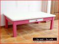 カントリー家具ピンクのローテーブル