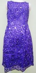 ベトナム製 ノースリーブワンピース(紫)
