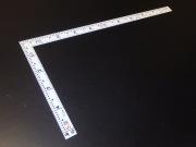 シンワ 曲尺 同厚 ホワイト 1尺 表裏同目 名作 尺目相当目盛
