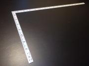 シンワ 曲尺 同厚 ホワイト 1尺6寸 表裏同目 名作 尺目相当目盛