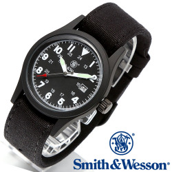 [正規品] スミス&ウェッソン Smith & Wesson ミリタリー腕時計 MILITARY WATCH BLACK SWW-1464-BK
