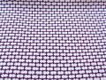 紫紺色、亀甲(地型)文様の江戸小紋 【1810】