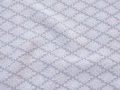 銀灰色、菊菱文様の江戸小紋 【910】