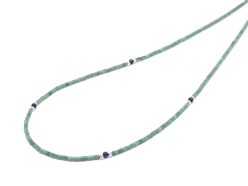Tube Turquoise Beads Necklace