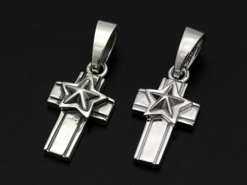 Star Cross Pendant - Silver