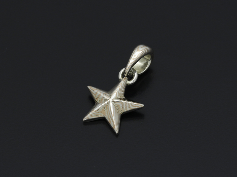 Basic MOKUME Star Pendant
