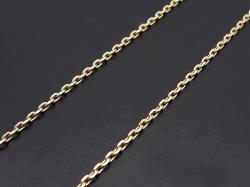 K10 Gold 0.48 Square Chain - 45cm