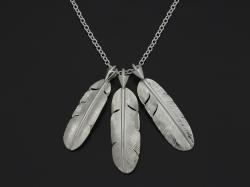 3 Arrow Feather Necklce