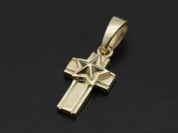 Star Cross Pendant - K10 Yellow Gold