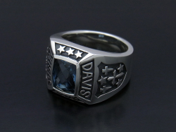 Marshal Ring w/London Blue Topaz