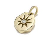 Sun Plate Pendant - K18Yellow Gold w/Diamond