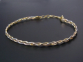 Wide Woven Bangle - 3Gold