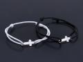 Gravity Cross Cord Bracelet & Anklet - K18WG