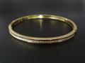 Diamond Bangle - Wide K18Yellow Gold