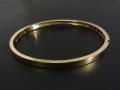 Gold Plain Bangle - K18Yellow Gold