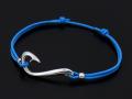 Fish Hook Cord Bracelet & Anklet - Silver