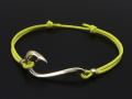 Fish Hook Cord Bracelet & Anklet - K10 Yellow Gold