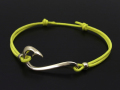 Fish Hook Cord Bracelet & Anklet - K10 Yellow Gold