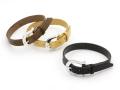 Horseshoe Flat Leather Bracelet