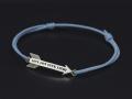 Arrow Cord Bracelet - Silver