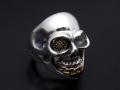 BILL WALL LEATHER��SYMPATHY OF SOUL  Medium Master Skull Ring - Silver��Bronze