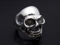 BILL WALL LEATHER��SYMPATHY OF SOUL  Medium Master Skull Ring - Silver