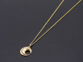 Moon Necklace - K10YG