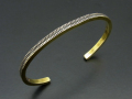 Marquise Design Bangle - Brass