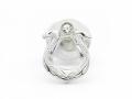 Horseshoe Pierce - Silver w/CZ