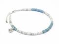 Lono×SYMPATHY OF SOUL Collaboration Beads Anklet w/Plumeria Charm
