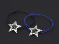 """Marbles��SYMPATHY OF SOUL"" Collabolation Star Cord Bracelet - Silver"