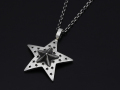 Marbles��SYMPATHY OF SOUL Collaboration Star Necklace - Silver
