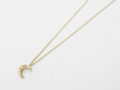 Little Holy Moon Necklace - K10Yellow Gold w/Diamond